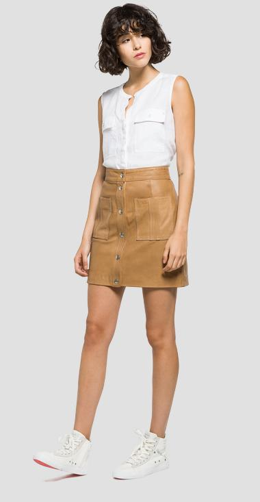 Short leather skirt - Replay W9212_000_82246_045_1