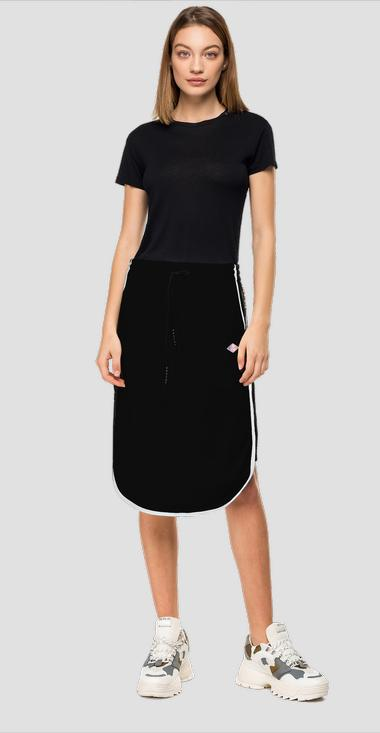 Skirt with side ribbons and print - Replay W9274_000_22610_098_1