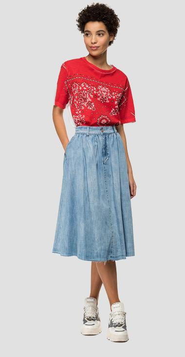 Denim full skirt - Replay W9285A_000_26C-616_010_1