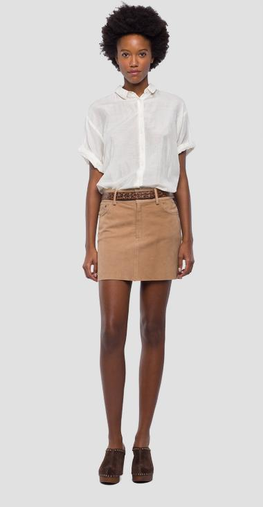 Suede mini skirt - Replay W9306_000_83394_041_1