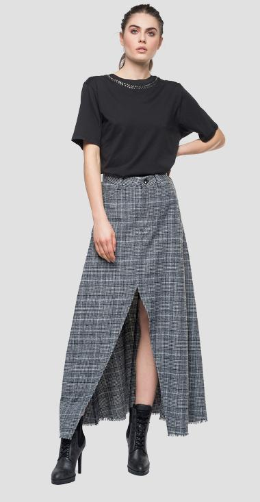 Long checked skirt - Replay W9313_000_52160_010_1