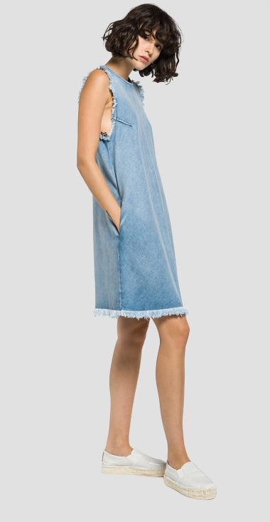 Frayed denim dress - Replay W9390_000_30C-989_010_1