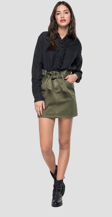Army style mini skirt - Replay W9397B_000_83466_234_1
