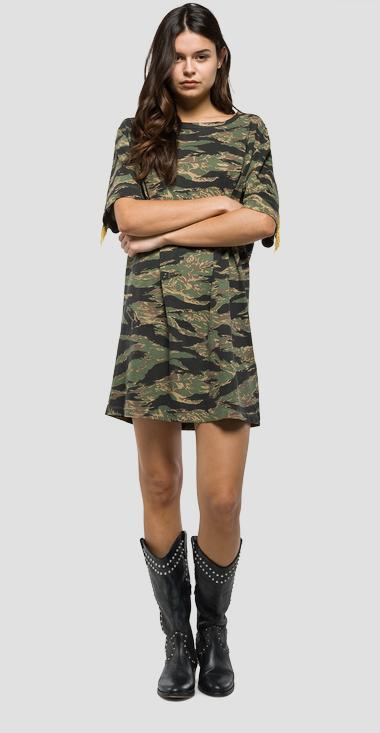 Camouflage cotton dress - Replay W9399_000_71258_010_1