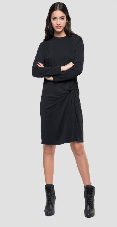 Dress with asymmetric knot - Replay W9452_000_22542_099_1
