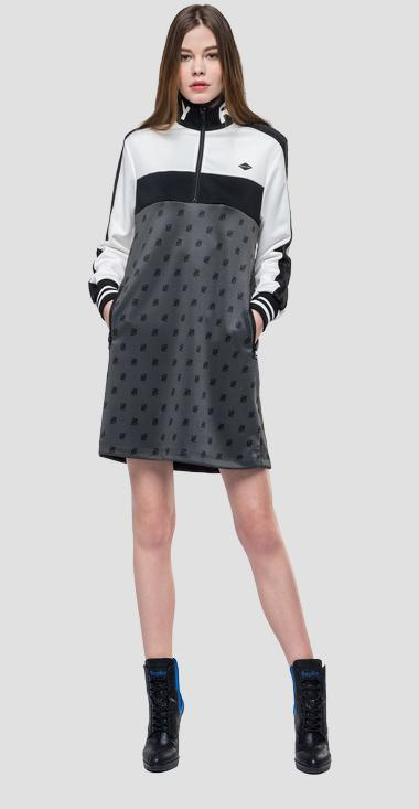 Sporty midi dress - Replay W9454_000_1982_010_1