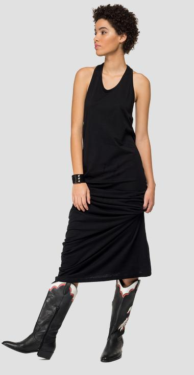 Long dress with studs - Replay W9476_000_22832P_098_1