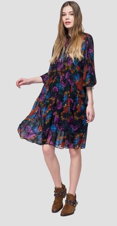 Midi dress with floral print - Replay W9525A_000_71820_010_1