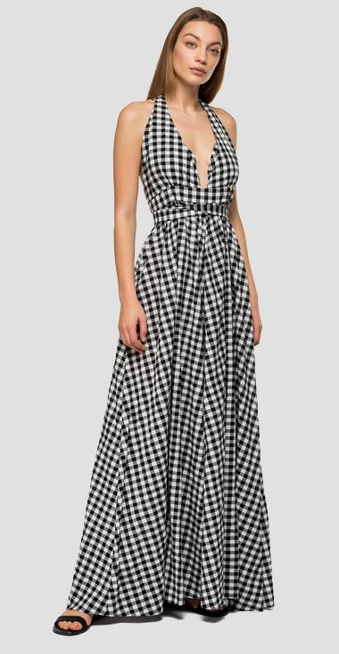 Long dress with gingham pattern - Replay W9568A_000_52284_010_1