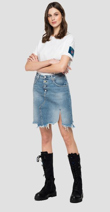 Rose Label denim skirt - Replay W9582R_000_108729R_009_1