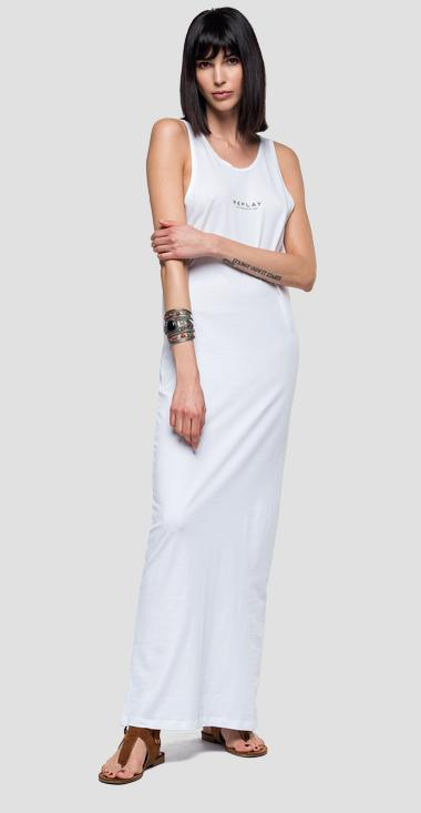 Long dress with small chain - Replay W9590_000_22658M_001_1