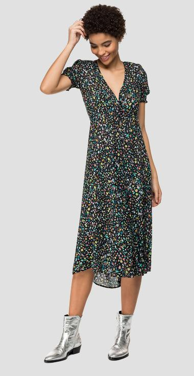 Floral dress with slit - Replay W9609_000_72094_010_1