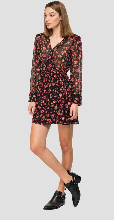 Georgette floral dress - Replay W9614_000_72084_010_1