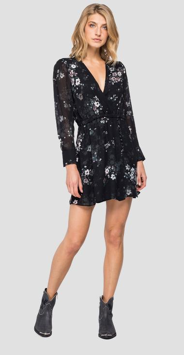 Robe imprimé fleuri all-over - Replay W9614_000_72168_010_1