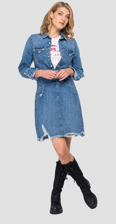Denim dress with pockets - Replay W9644_000_50C790R_009_1