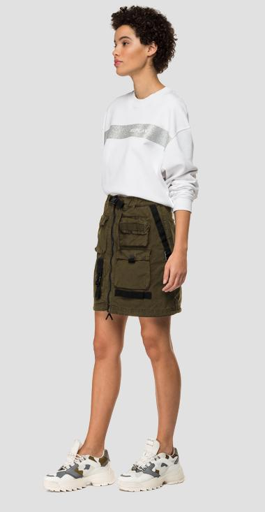 Used effect miniskirt with multi pockets - Replay W9805_000_8366932_215_1