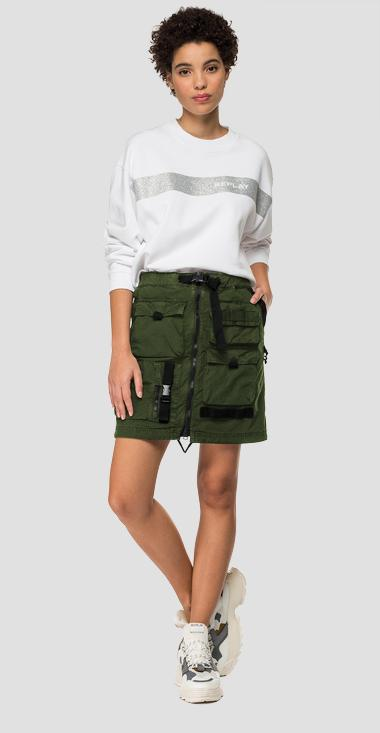 Used effect miniskirt with multi pockets - Replay W9805_000_8366932_677_1