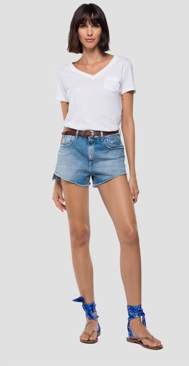 High-waisted denim shorts - Replay WA406R_000_108-466_010_1