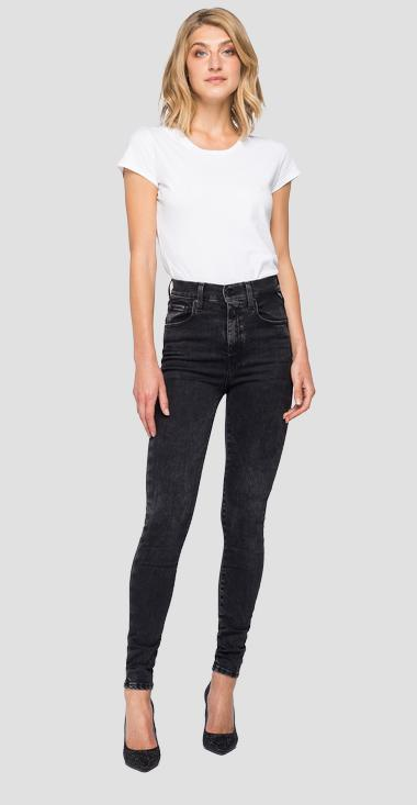 Super skinny high waist fit Hyperflex Re-Used Leyla jeans - Replay WA414_000_661RB04_097_1