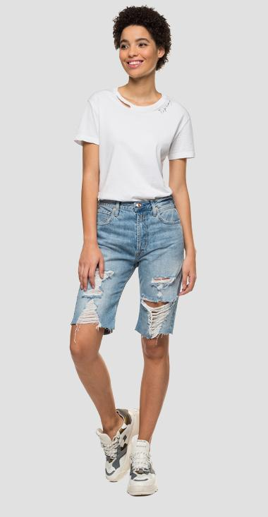 Denim-Bermudashorts in Used-Optik - Replay WA428R_000_50C-60R_010_1