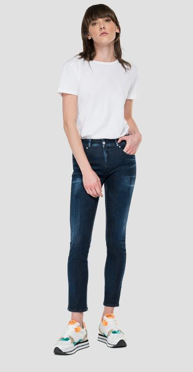 Slim fit Hyperflex Re-Used White Shades Faaby jeans - Replay WA429_000_661-WI1_007_1