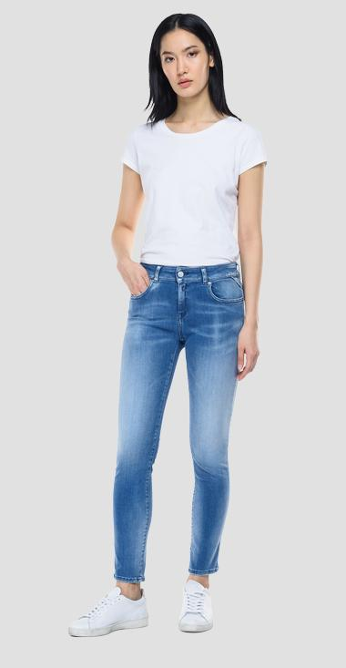 Slim fit Hyperflex Re-Used White Shades Faaby jeans - Replay WA429_000_661-WI5_010_1