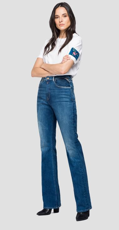 Flare fit high waist Allye Rose Label jeans - Replay WA430_000_319714B_009_1