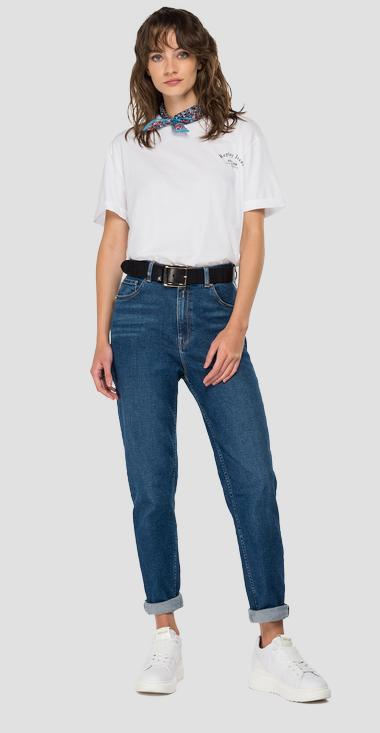 ROSE LABEL high waist tapered fit Kiley jeans - Replay WA434E_000_83C-85V_009_1