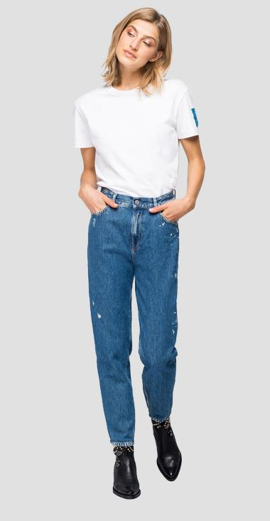 Tapered fit high waist Kiley Rose Label jeans - Replay WA434_000_108-797_009_1