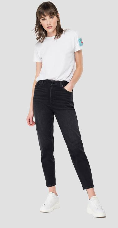 High waist tapered fit Kiley jeans - Replay WA434_000_421-828_098_1
