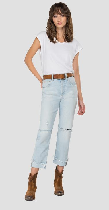 ROSE LABEL crop straight fit Maijke jeans - Replay WA461_026_207-85R_010_1