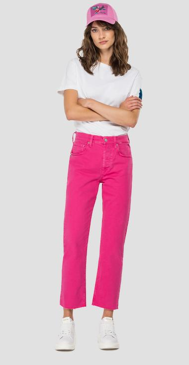 ROSE LABEL crop straight fit Maijke jeans - Replay WA461_026_8405353_165_1