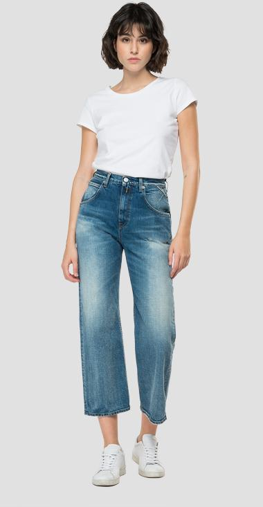 Crop high waist tapered fit ROSE LABEL Zanha jeans - Replay WA465A_026_319-981_009_1