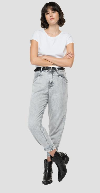 High waist tapered fit Talya jeans - Replay WA466_000_531-979_095_1