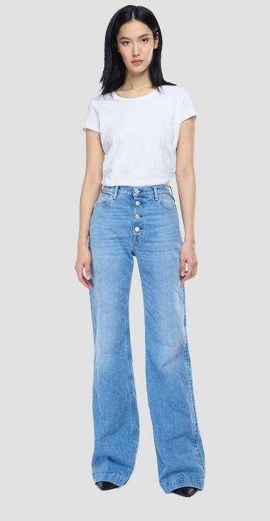 Jeans high waist wide leg fit Bevelyn ROSE LABEL - Replay WA470_000_319-993_010_1