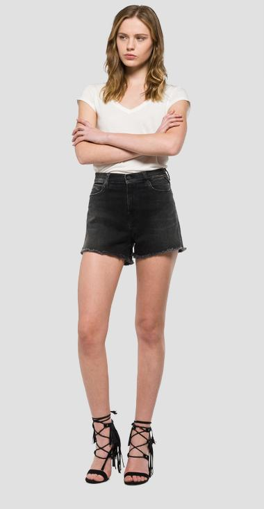 High-waisted denim shorts - Replay WA639_000_29C-913_007_1