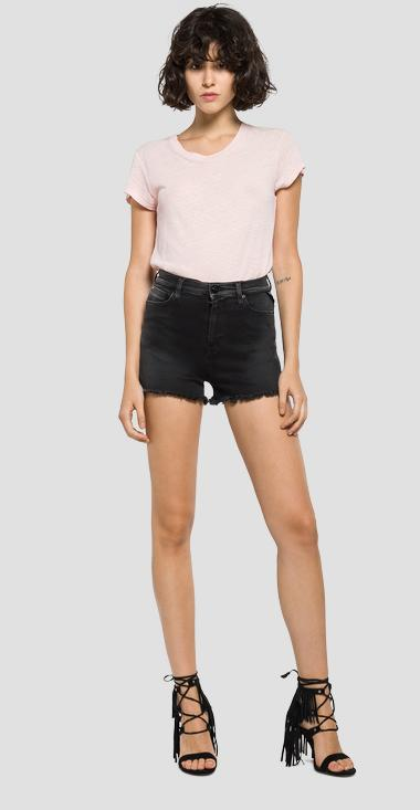 Hyperflex high-waisted shorts - Replay WA639_000_661-06B_007_1