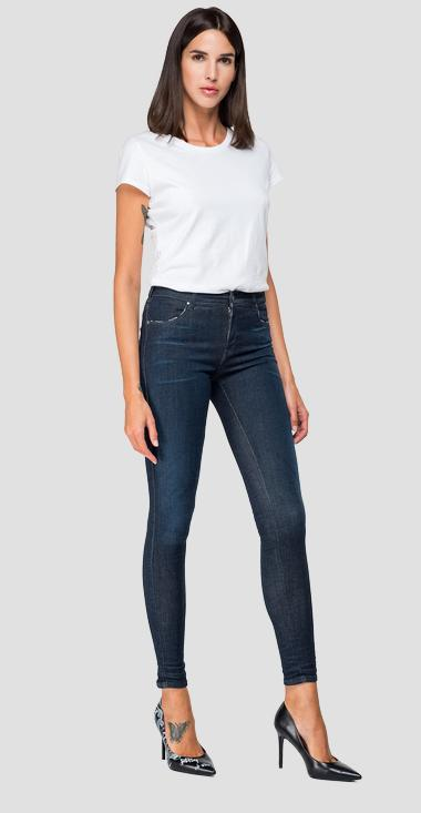 Super skinny fit Hyperflex Stella jeans Clouds - Replay WA684_000_661-E03_007_1