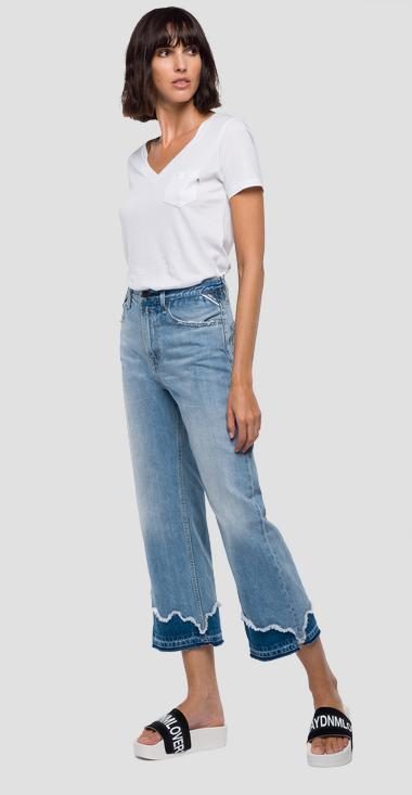 Cropped culottes fit Agathe jeans - Replay WA690F_000_50CR456_010_1