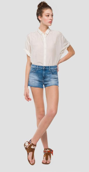 Hyperflex denim shorts - Replay WA695_000_661-405_010_1