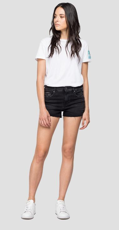 Short pants in Hyperflex Clouds denim - Replay WA695_000_661-E01_098_1