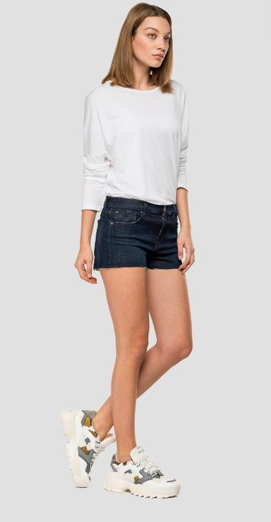 Short pants in Hyperflex Clouds denim - Replay WA695_000_661-E03_007_1