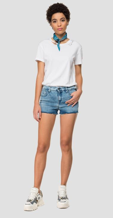 Short pants in Hyperflex Clouds denim - Replay WA695_000_661-E09_010_1