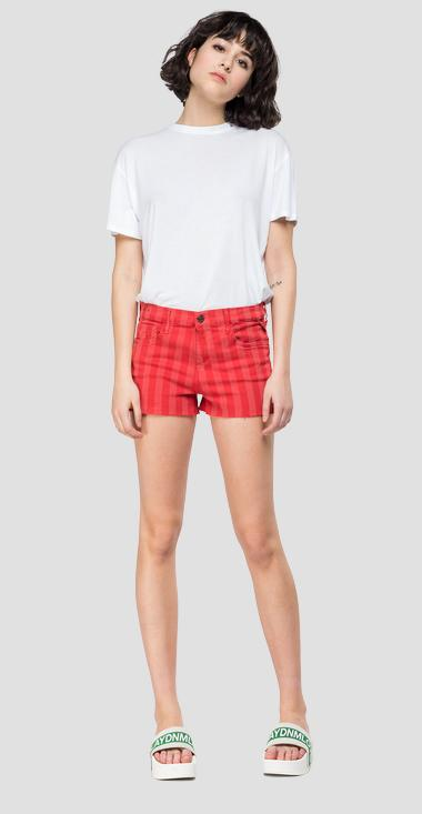 Raw cut women's shorts - Replay WA695_000_8064193_120_1