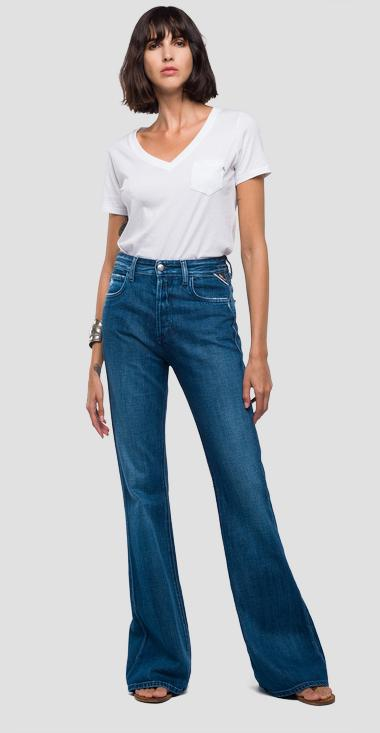 Flare High Waist Fit Jeans Gaiya - Replay WA699_000_100-445_009_1