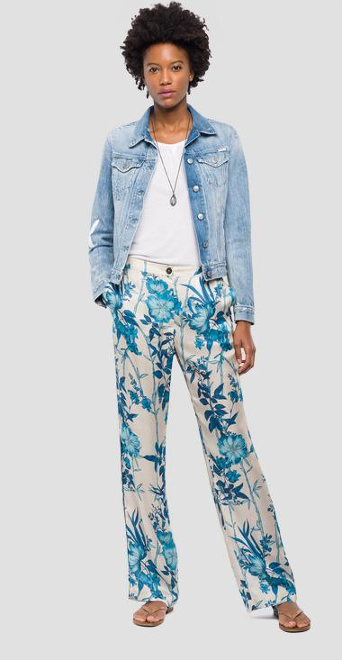 Butterfly embroidery denim jacket - Replay WA7651_000_100479R_011_1