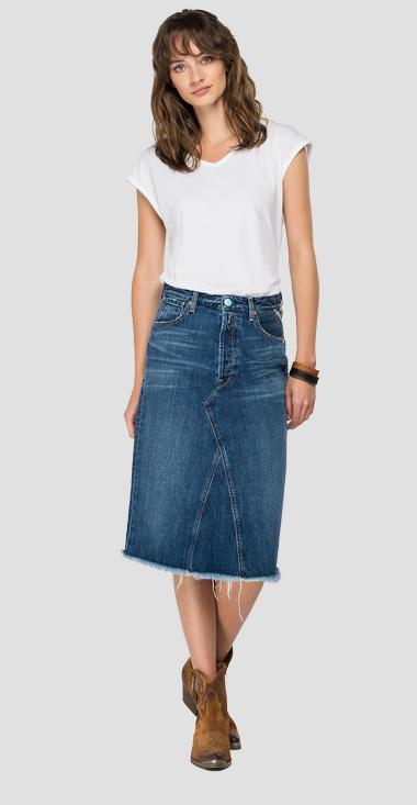 ROSE LABEL denim midi skirt - Replay WA9158_000_50C-80V_007_1