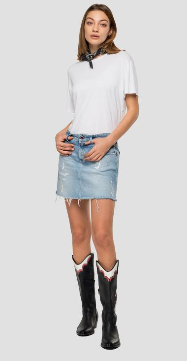 Replay Blue Jeans denim miniskirt - Replay WA9201_000_207670R_009_1