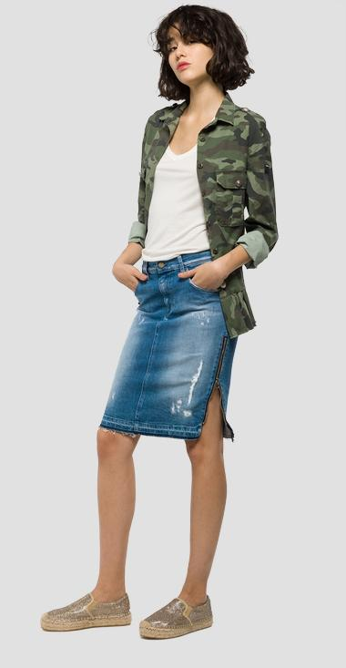 Denim pencil skirt - Replay WA9210_000_419-967_009_1
