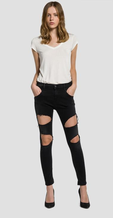 Denice drop-crotch slim-fit jeans - Replay WAB605_000_437E14N_007_1